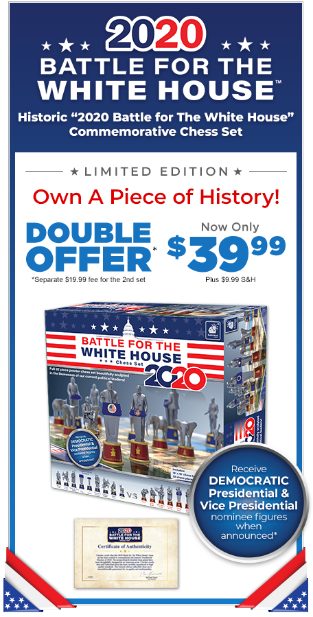 Battle For The White House 2020 - Limited Edition Collector's Chess Set