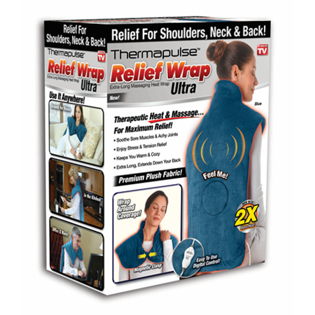 Relief Wrap - Massaging Heat Therapy For Your Shoulders, Neck & Back!