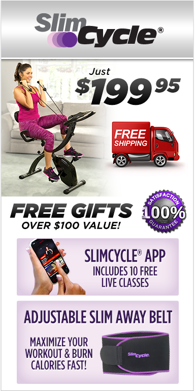 As Seen On TV Slim Cycle - The 2-In-1 Fitness Bike That Gives You 2X The Results in Half The Time!