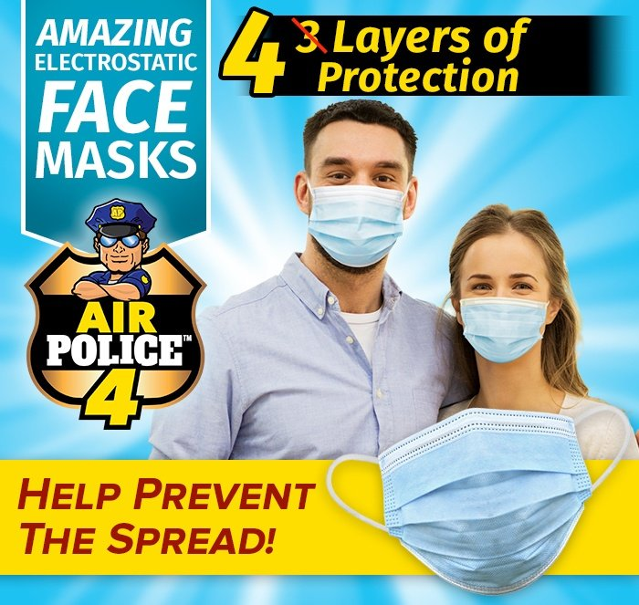 Air Police 4 - Amazing Electrostatic Face Masks