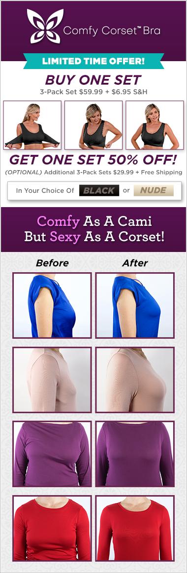 Comfy Corset Bra - Comfy as a Cami but Sexy as a Corset