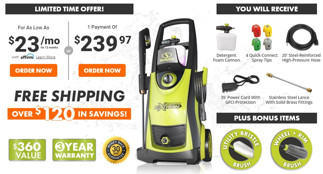 XTREAM Electric Pressure Washer