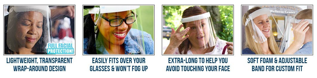 As Seen On TV Fresh View™ - Lightweight Face Shield Can Protect Your Eyes, Nose & Mouth From Airborne Hazards!